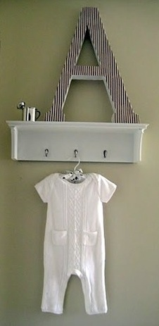 Shelf And Hook Combination Unit For Baby Nursery Accessories