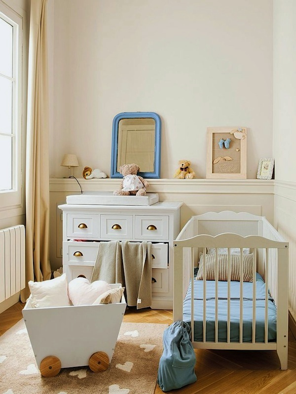 Small space nursery ideas baby nursery decor kidspace interiors - Baby room ideas small spaces property ...