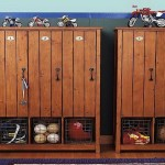 Using Vintage Lockers in Boys' Rooms