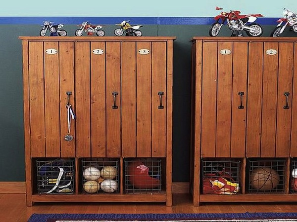 Using Vintage Lockers in Boys\' Rooms | KidSpace Interiors