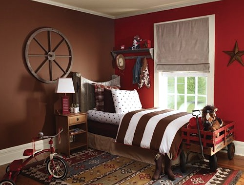 Boys 39 cowboy theme bedroom boys 39 room ideas kidspace for Dallas cowboy bedroom ideas