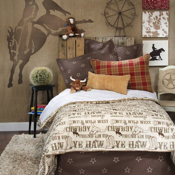 cowboy theme bedding artwork and a few other accessories to complete