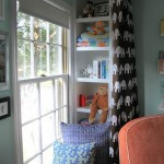 Using Draperies to Add Privacy to Kids' Room Window Seat