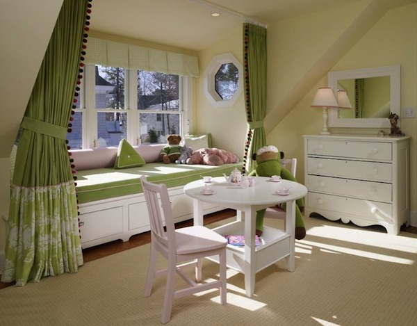 Curtains Ideas curtains for window seat : Draperies add Privacy | Kids Room Window Seat | KidSpace Interiors