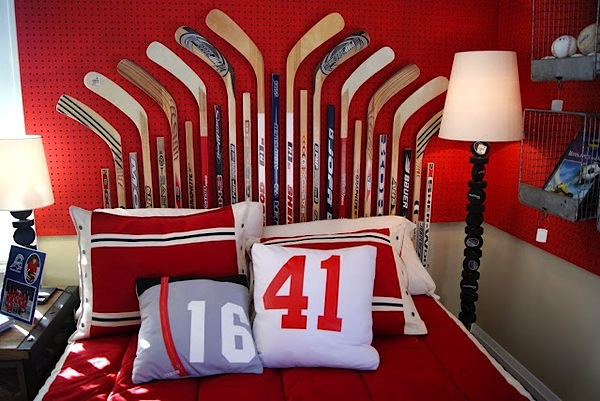 10 awesome sports theme teen rooms kidspace interiors for Kids hockey room