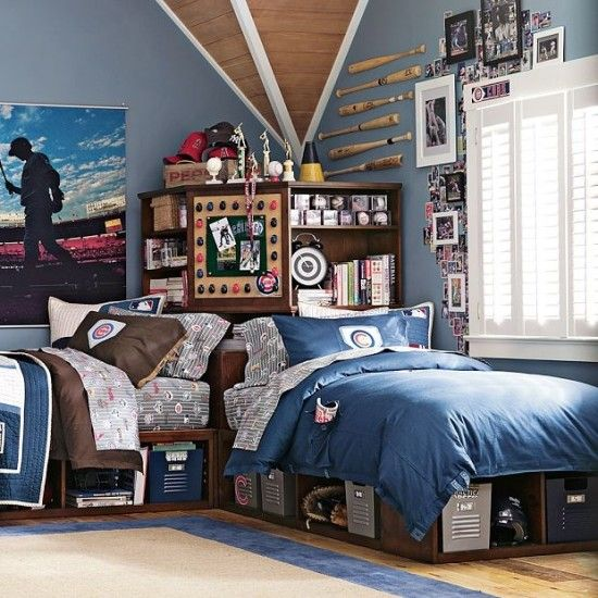 sports theme bedroom for teen boys