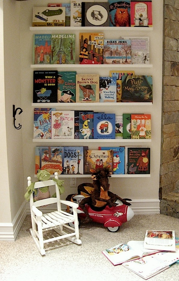 Toddler Reading Nook In Family Room