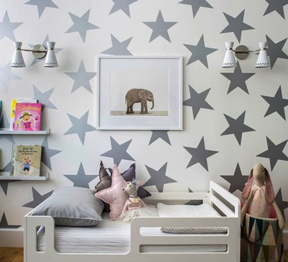 toddler room star wall paper