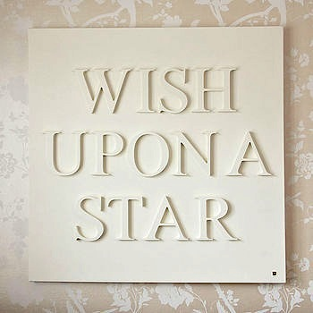 wish upon a star toddler room artwork