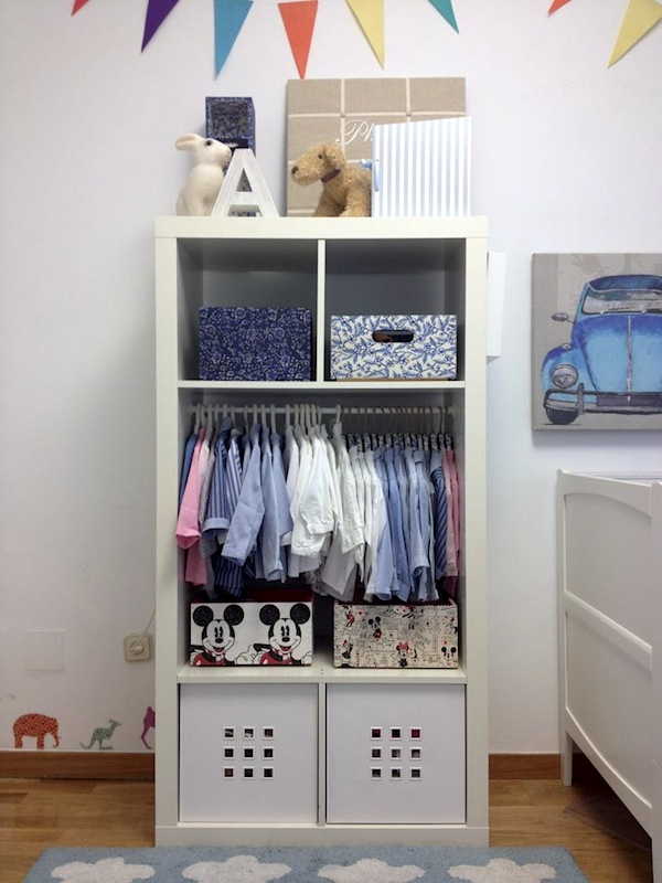 Nursery clothes storage thenurseries for Storage ideas for small bedrooms with no closet