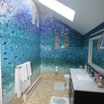 "Kids' Bathroom ""Beach"" Tile Wall"