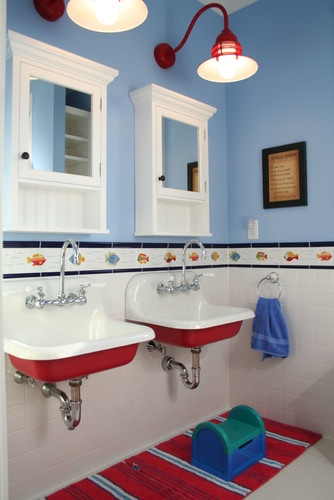 kid friendly coastal bathroom - Coastal Bathroom