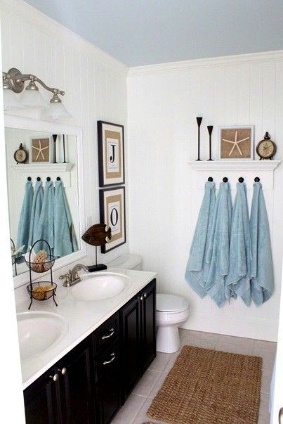 Kid friendly coastal bathroom kids coastal decor for Beach themed bathroom decor