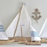 10 Super Driftwood Sailboats to Use in Beach Theme Kids' Rooms