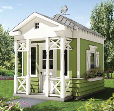 Girls 39 outdoor playhouses summer kidspaces kidspace for Playhouse with porch plans