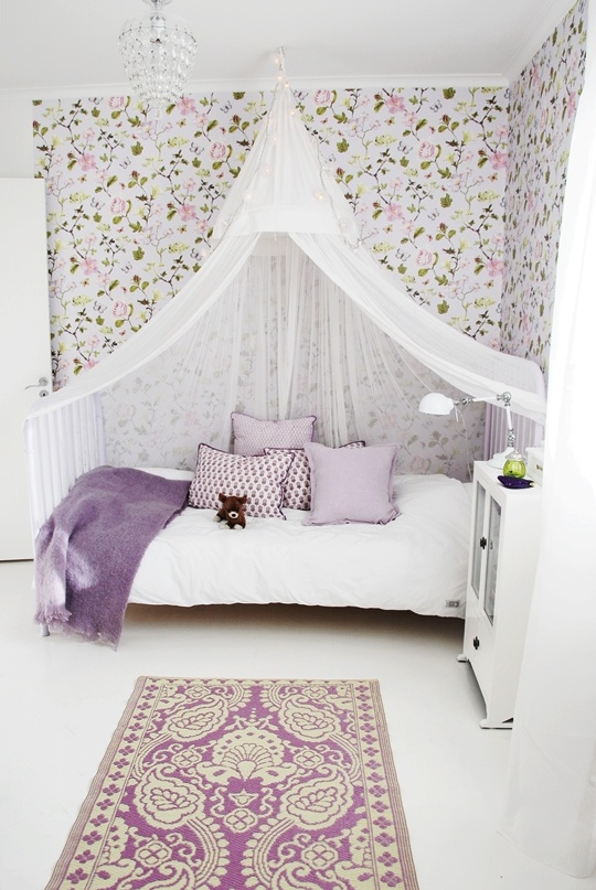teen girls bedroom sheer bed canopy