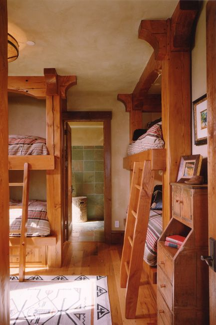 summer cabin bunk rooms for kids western style