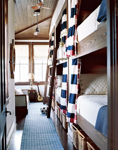 summer cabin bunk room nautical theme