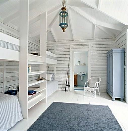 kids summer cabin bunk room
