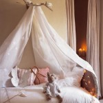 Sweet Girls' Room Sheer Bed Canopy Ideas