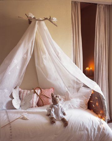 sheer bed canopy girls room & Girlsu0027 Room Bed Canopy | sheer bed curtain ideas | KidSpace Interiors