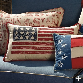 stars and stripes pillows for kids rooms