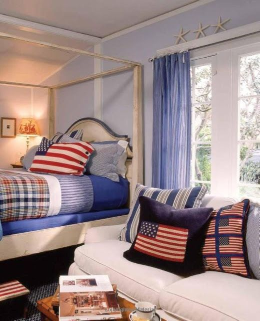 Blue Kids Room: Red, White, Blue Kids' Rooms