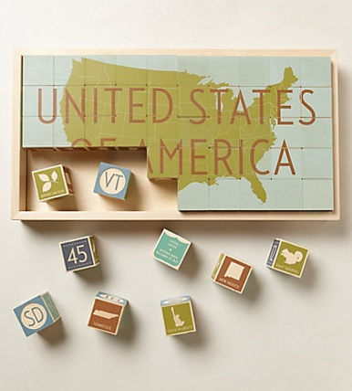 usa block puzzle for kids home school