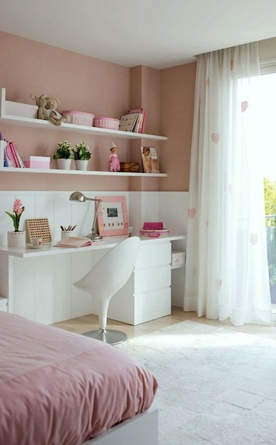 modern chair with girls bedroom desk Girl s Bedroom Study Desk Ideas  KidSpace Interiors