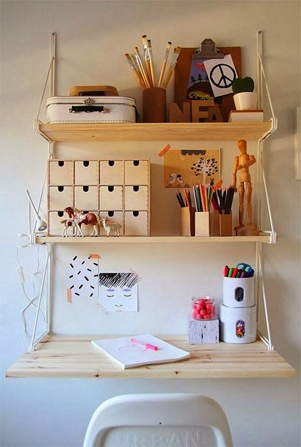 Wall Mount Teen Room Study Desk
