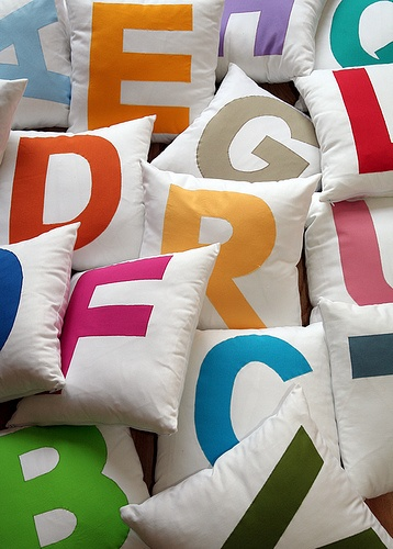 abc pillows for toddler room