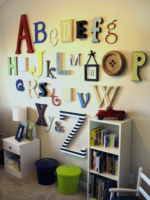 custom abc letters made from wood
