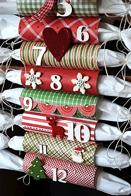 wrapping paper roll countdown to christmas ideas