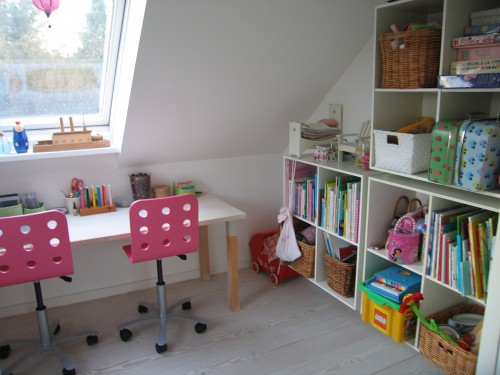 Home School Room With Kids Study Desk And Storage