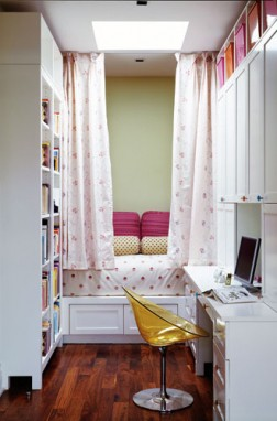 Age Room Ideas With Bed Privacy Curtains And Study Desk