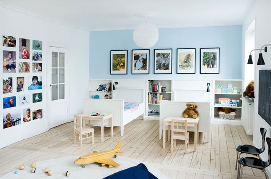Kids Room Floor Ideas With Wide Plank In Pickled Finish
