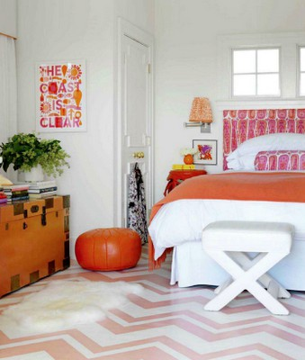 Age Room Floor Ideas With Chevron Painted Wood