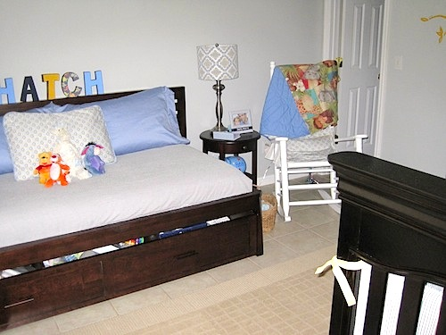 boys day bed organized storage a baby nursery essential 10933