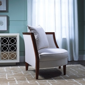 Wood Upholstered Corner Chair For Ager Room Ideas In Small Rooms