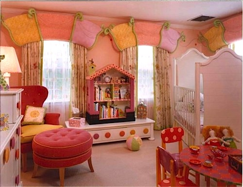 Unique Window Cornice For Toddler Room Idea