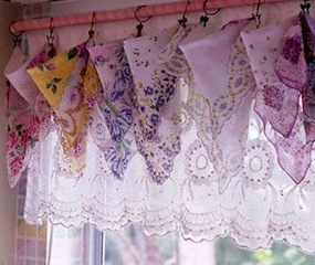 S Room Window Treatment Idea With Handkerchief Valance For Vintage Look