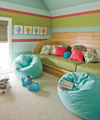 family room seating ideas for tweens and teens with beanbag chairs and pillows