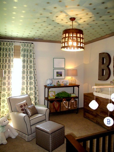 Baby Nursery Ceiling Ideas With Papered