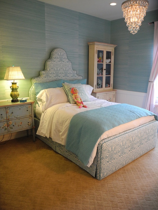 Upholstered Bed Adds Sweet Drama to Kid's Rooms | KidSpace ...