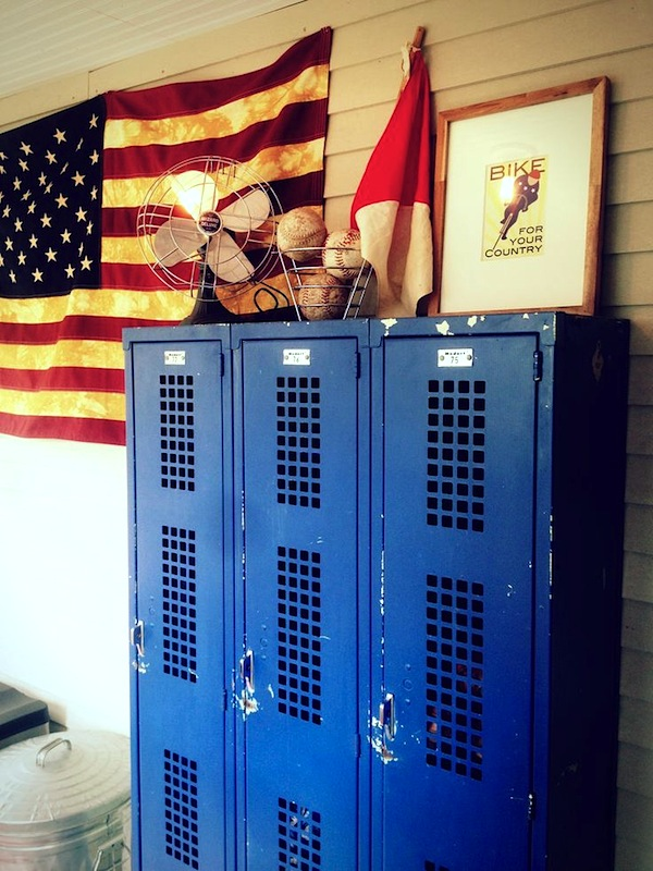 Vintage Blue Metal Lockers For Kids Room Storage